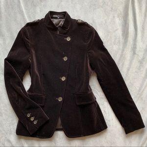 Theory chocolate brown velvet jacket blazer NWOT